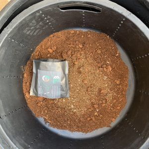 Preparing the 450ltr Bin system - drop the empty pack into the bin to break down, it is biodegradable.