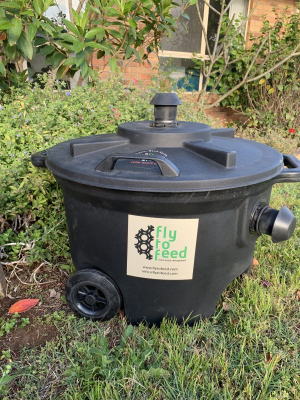 Preparing the 450ltr Bin system - Locate Bin in a sunny area easily accessible to add your food waste.